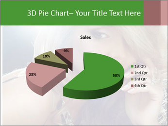 Blond Photo Model PowerPoint Template - Slide 35