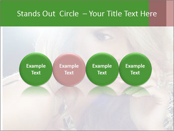Blond Photo Model PowerPoint Template - Slide 76