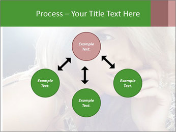 Blond Photo Model PowerPoint Template - Slide 91
