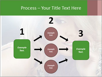 Blond Photo Model PowerPoint Template - Slide 92