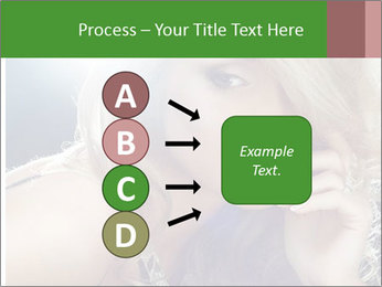 Blond Photo Model PowerPoint Template - Slide 94