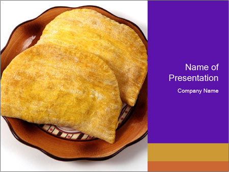Crispy Pattie For Lunch PowerPoint Templates