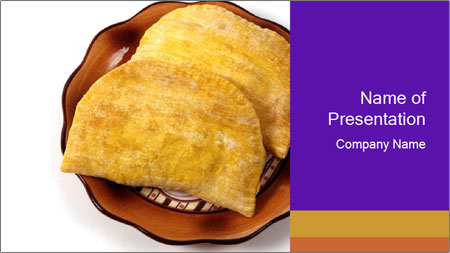 Crispy Pattie For Lunch PowerPoint Template