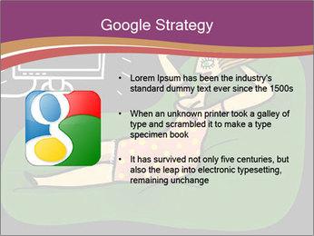 Cartoon Lady Watching TV PowerPoint Templates - Slide 10