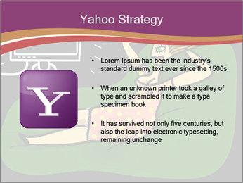 Cartoon Lady Watching TV PowerPoint Templates - Slide 11