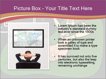 Cartoon Lady Watching TV PowerPoint Templates - Slide 13