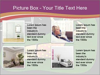 Cartoon Lady Watching TV PowerPoint Templates - Slide 14