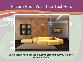 Cartoon Lady Watching TV PowerPoint Templates - Slide 15
