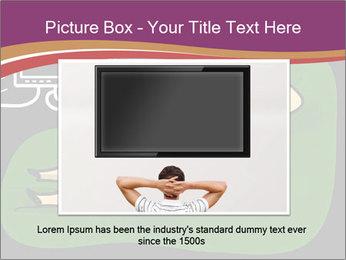 Cartoon Lady Watching TV PowerPoint Templates - Slide 16
