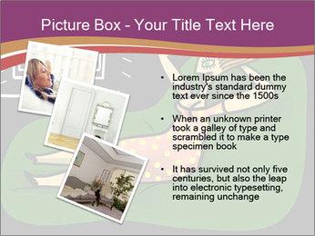 Cartoon Lady Watching TV PowerPoint Template - Slide 17