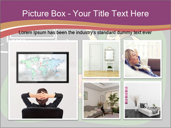 Cartoon Lady Watching TV PowerPoint Templates - Slide 19