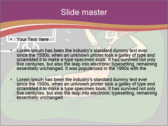 Cartoon Lady Watching TV PowerPoint Templates - Slide 2