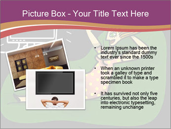 Cartoon Lady Watching TV PowerPoint Templates - Slide 20