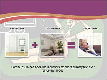 Cartoon Lady Watching TV PowerPoint Template - Slide 22