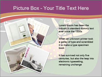 Cartoon Lady Watching TV PowerPoint Templates - Slide 23