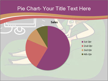 Cartoon Lady Watching TV PowerPoint Template - Slide 36