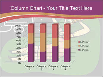 Cartoon Lady Watching TV PowerPoint Template - Slide 50