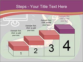 Cartoon Lady Watching TV PowerPoint Template - Slide 64
