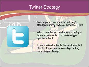Cartoon Lady Watching TV PowerPoint Templates - Slide 9
