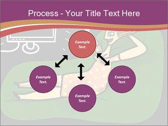 Cartoon Lady Watching TV PowerPoint Template - Slide 91