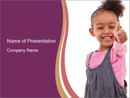 Innocent Girl PowerPoint Templates