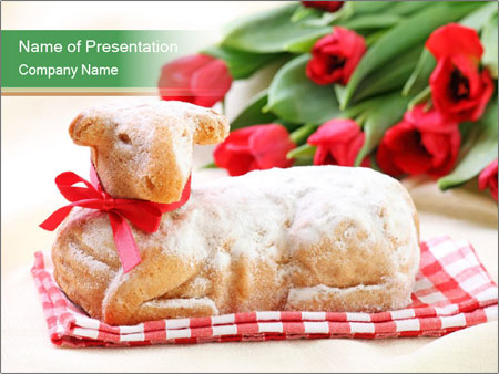 Easter Sheep Cake PowerPoint Templates