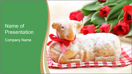 Easter Sheep Cake PowerPoint Template