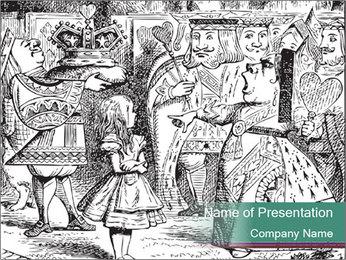 Alice In Wonderland PowerPoint Template