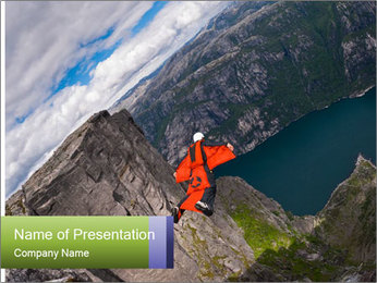 Fjord Adventure PowerPoint Template - Slide 1