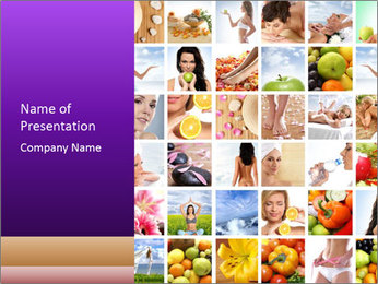 Healthy Life Collage PowerPoint Template - Slide 1