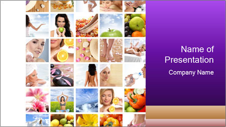 Healthy Life Collage PowerPoint Template