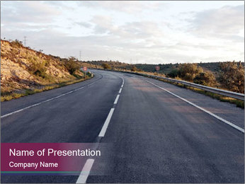 Freeway PowerPoint Template - Slide 1