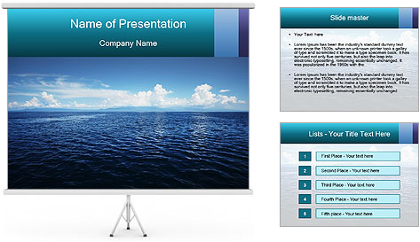 Blue Oceanic Water PowerPoint Template