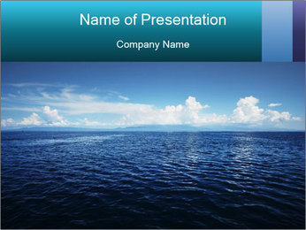 Blue Oceanic Water PowerPoint Template