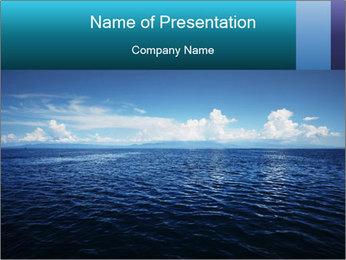 Blue Oceanic Water PowerPoint Templates - Slide 1