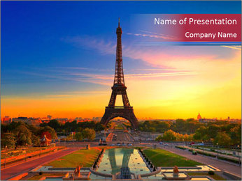 Magic Eiffel Tour PowerPoint Template - Slide 1