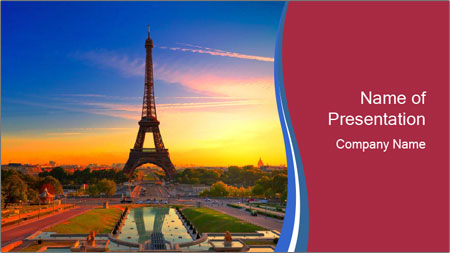 Magic Eiffel Tour PowerPoint Template