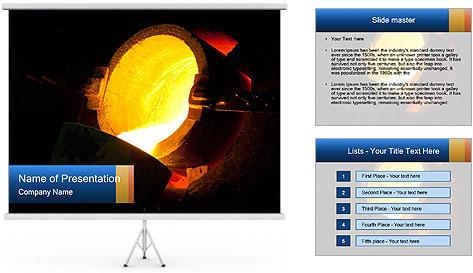 Golden Liquid PowerPoint Template