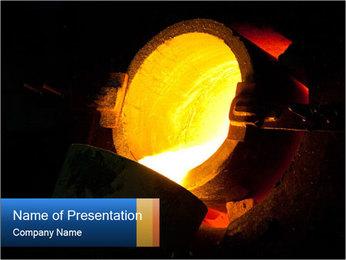 Golden Liquid PowerPoint Templates - Slide 1
