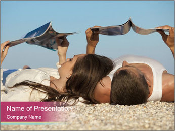 Couple On Coastline PowerPoint Template