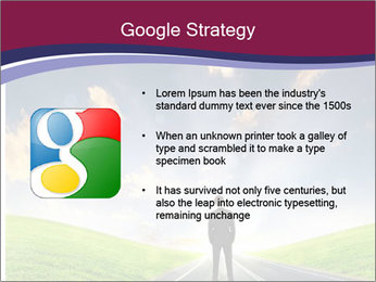Businessman And Highway PowerPoint Templates - Slide 10