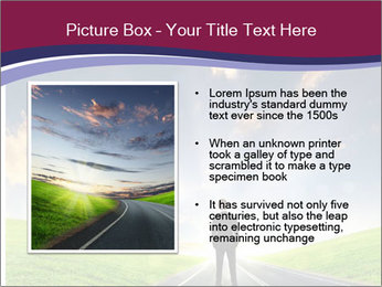 Businessman And Highway PowerPoint Template - Slide 13