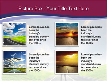 Businessman And Highway PowerPoint Template - Slide 14