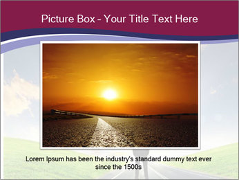 Businessman And Highway PowerPoint Template - Slide 15