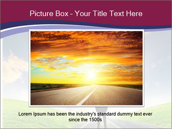 Businessman And Highway PowerPoint Template - Slide 16