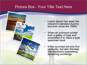 Businessman And Highway PowerPoint Template - Slide 17