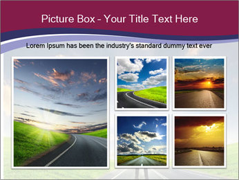 Businessman And Highway PowerPoint Template - Slide 19
