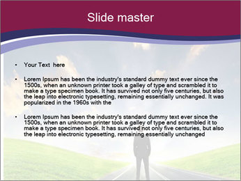 Businessman And Highway PowerPoint Templates - Slide 2