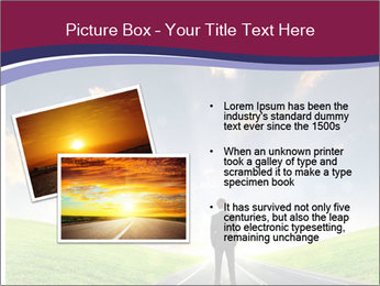 Businessman And Highway PowerPoint Template - Slide 20