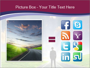Businessman And Highway PowerPoint Template - Slide 21
